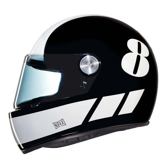 Nexx XG100 Motorcycle RACER Billy B Motorbike Crash Helmet - Black/White