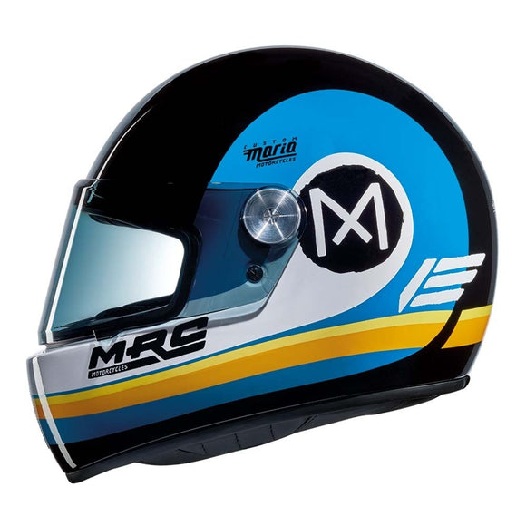 Nexx XG100 RACER JUPITER Motorcycle Crash Helmet - Black/White/Blue