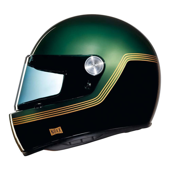 Nexx XG100 Motorcycle RACER MOTORDROME Motorbike Crash Helmet - Green