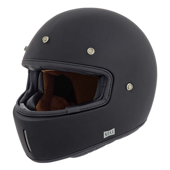 Nexx XG100 Motorcycle RACER PLAIN Motorbike Crash Helmet- Black/White