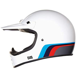 Nexx XG200 ROCK'ON Helmet - White/Red/Blue