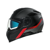 Nexx X.VILITUR LATITUDE Motorbike Full-Face Race Helmet - Black / Red