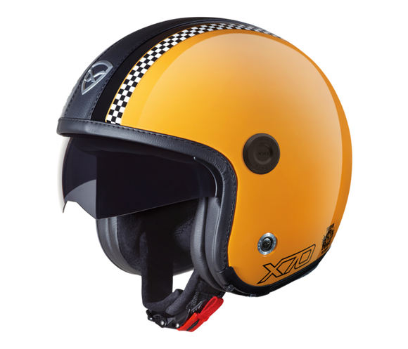Nexx X70 Freedom Retro Yellow Motorcycle Helmet 01x7040006