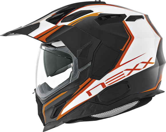 Nexx XD1 Voyager White Orange Motorcycle Helmet 01xds01005