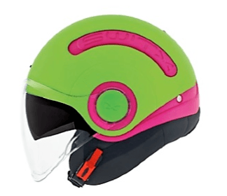 Nexx SWITX SX10 Motorcycle Crash Helmet Motorbike Helmet Fun Collection Magenta / Neon Green MT 01sx153009