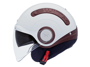 Nexx SX10 Motorcycle Crash Helmet Motorbike Switx Helmet Brown White NEXX01SX128002 01sx128002