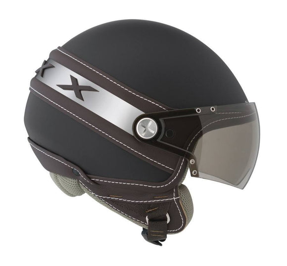 Nexx S X60 ICE black with brown motorcycle helmet 01x6001125