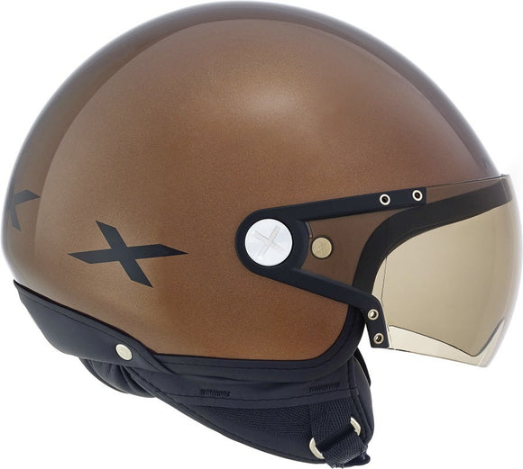 Nexx S X60 Rap Chocolate Brown Black motorcycle crash Helmet -01x6028032