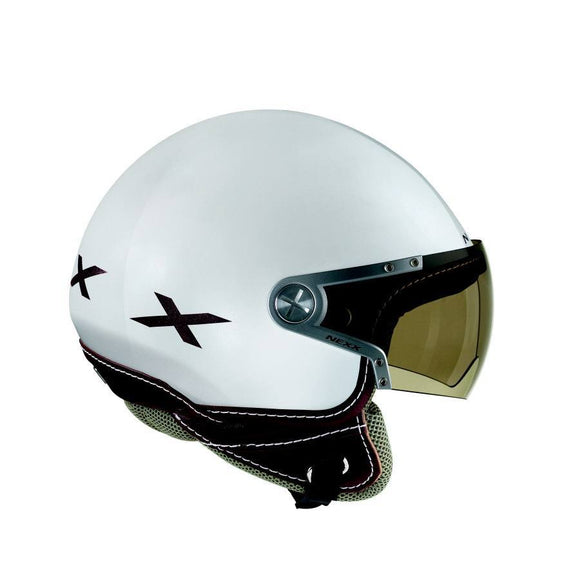 Nexx S X60 Rap White Shiny Brown motorcycle crash Helmet -01x6000045