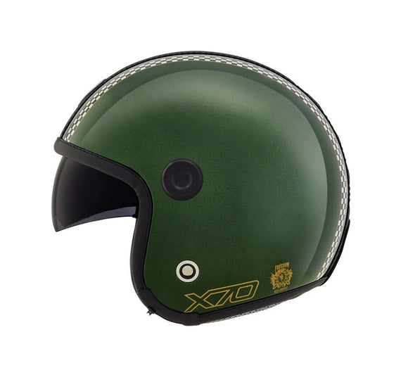 Nexx X70 Freedom English Green Black Helmet 01x7011016