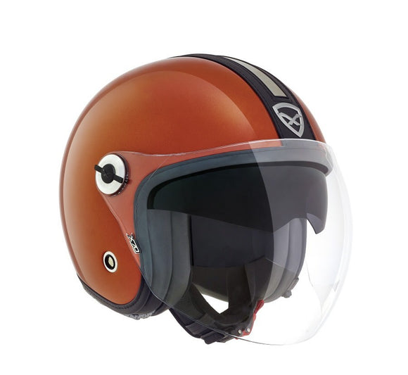 Nexx X70 Groovy Orange Metal Black Helmet 01x7049002