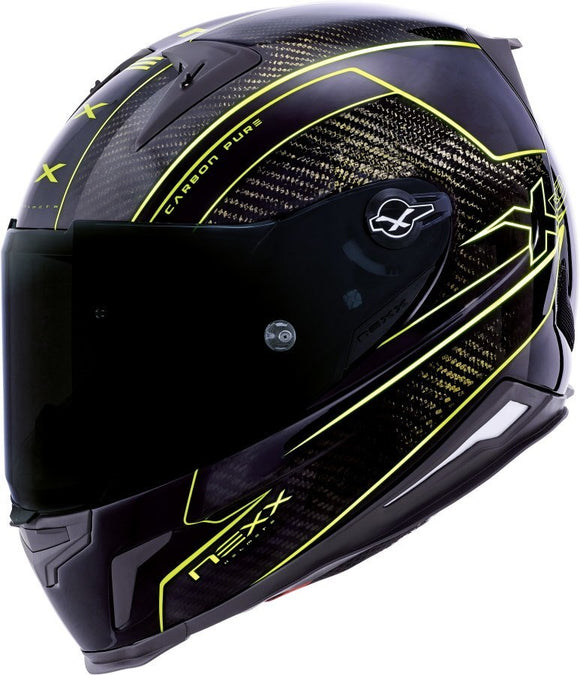 Nexx XR2 Carbon Pure Yellow Motorcycle Helmet 01xr223013