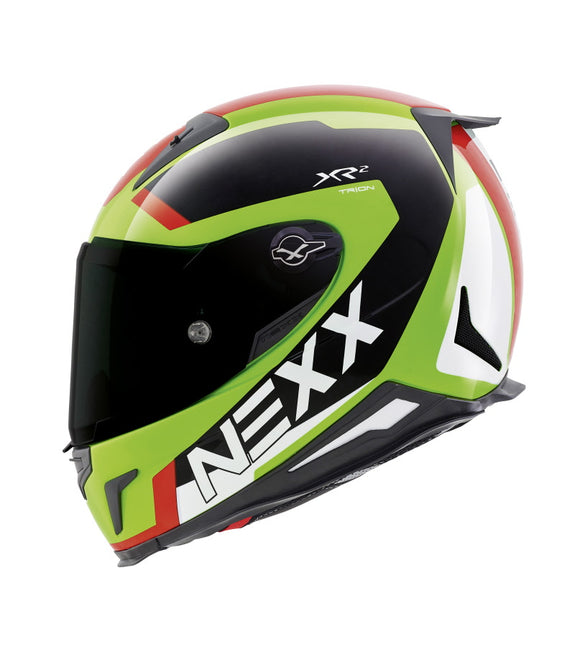 Nexx XR2 Trion Green Neon Red Helmet 01xr248022
