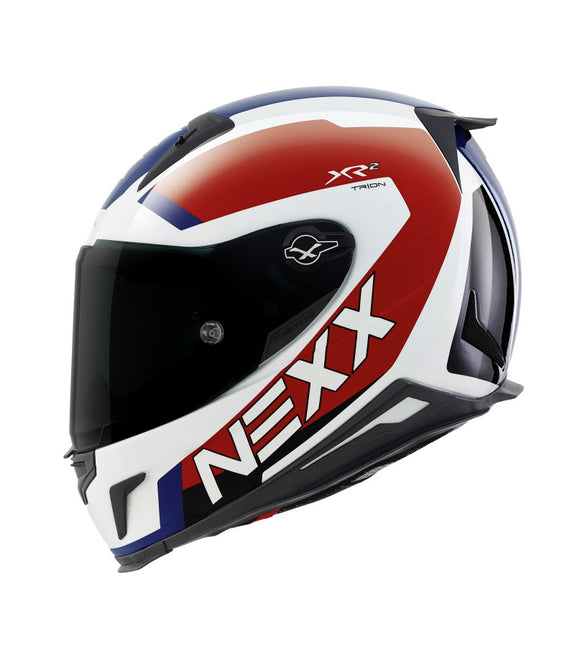 Nexx XR2 Trion White Blue Helmet 01xr200020
