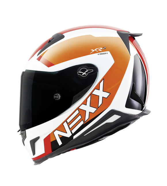 Nexx XR2 Trion White Orange Helmet 01xr200023