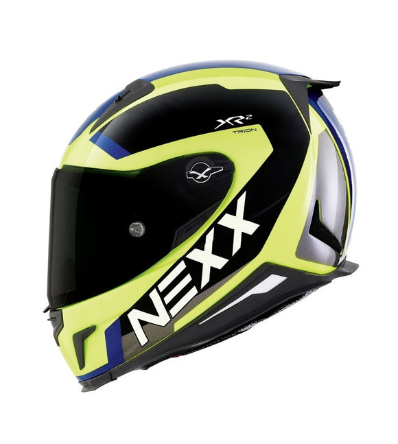Nexx XR2 Trion Yellow Neon Blue Helmet 01xr224021
