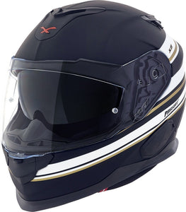 Nexx XT1 Pursuit Black MT White Motorcycle Helmet NEXX01XT101017 01xt101017