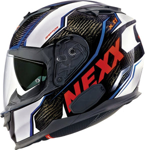 Nexx XT1 Raptor White Red Motorcycle Helmet NEXX01XT123026 01xt123026