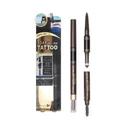 K-Palette Lasting 3Way Eyebrow Pencil 04 Grayish Brown