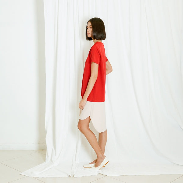 Canvas Clarisse Dress in Red