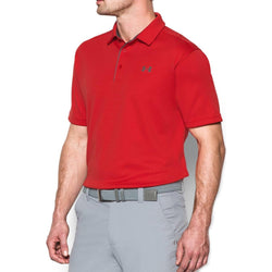 Under Armour Men's Tech Golf Polo Shirt - Red