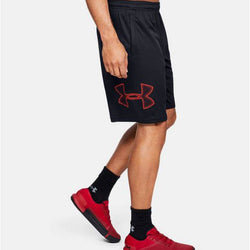 Under Armour Men's Tech Graphic Shorts - Black/Red