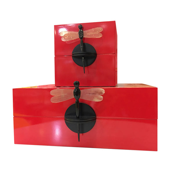 Luxury Decorative Storage Box with Dragonfly Pin