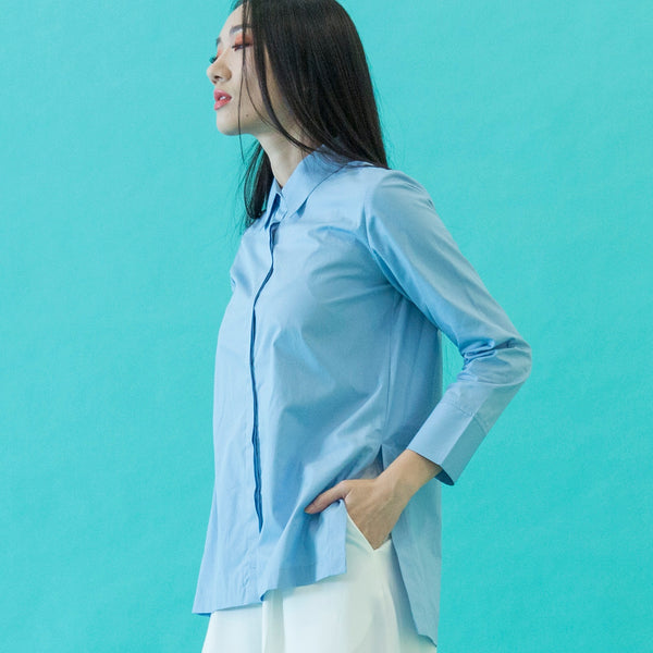 Canvas Angelina Longsleeved Shirt in Powder Blue
