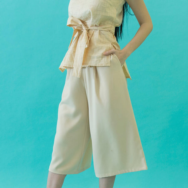 Canvas Aurora Culottes in Beige