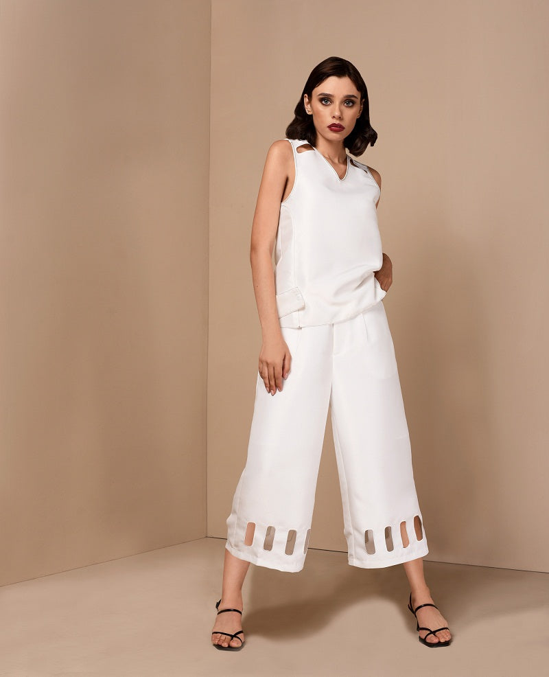 RAF Unbox Culottes in Off-White