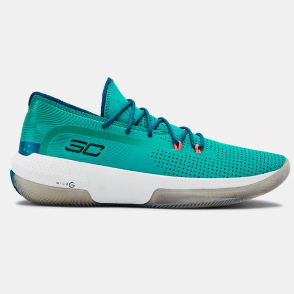 Under Armour Men's SC 3ZERO III Basketball Shoes | Teal/Black/Red