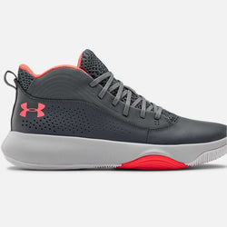 Under Armour Men's Lockdown 4 Basketball Shoes | Gray/Black