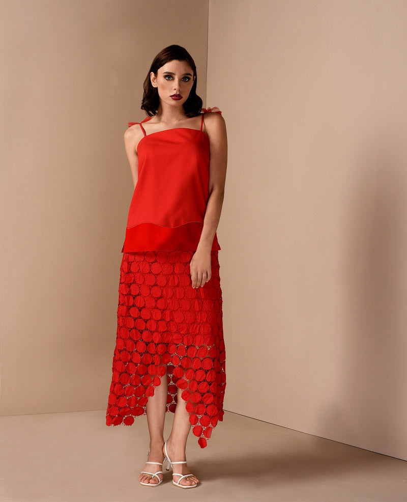 RAF Umbra Sleeveless Top in Red