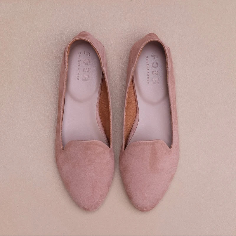 Posh Pocket  Smoking Slippers  Dusty Pink