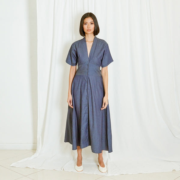 Canvas Kalle Dress in Chambray