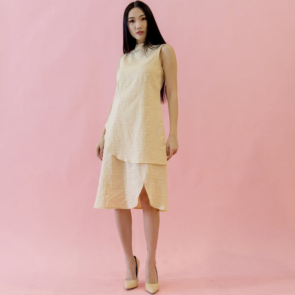 Canvas Allison Dress in Peach