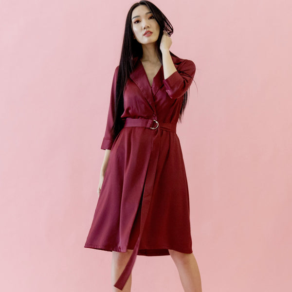 Canvas Alyssa Wrap Dress in Red