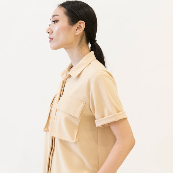Canvas Odessa Safari Shirt in Camel