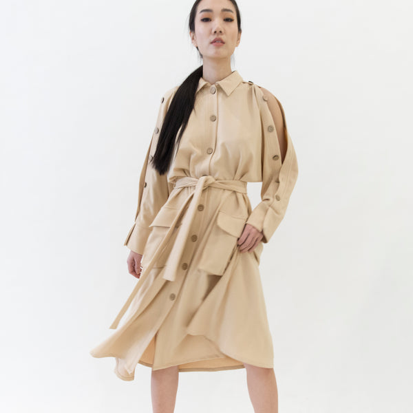 Canvas Orra Safari Dress in Camel