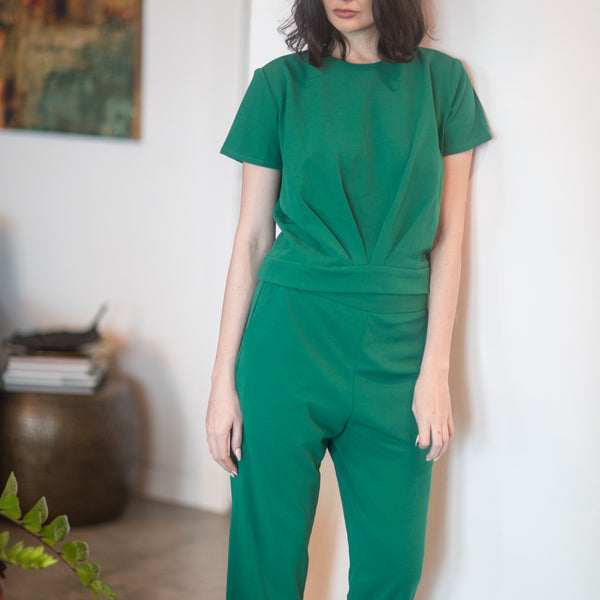 Canvas Miranda Pants in Emerald