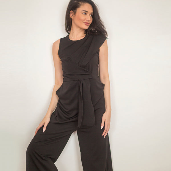 Canvas Amina Jumpsuit in Black