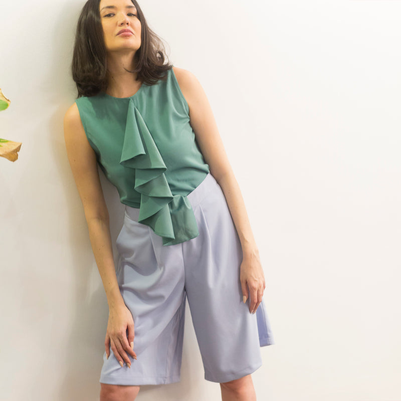 Canvas Yakira Top in Mint Green