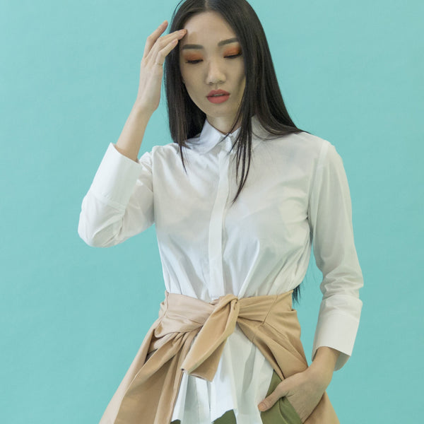 Canvas Angelina Longsleeved Shirt in White