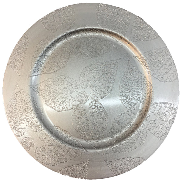 Charger Plate  with Leaves