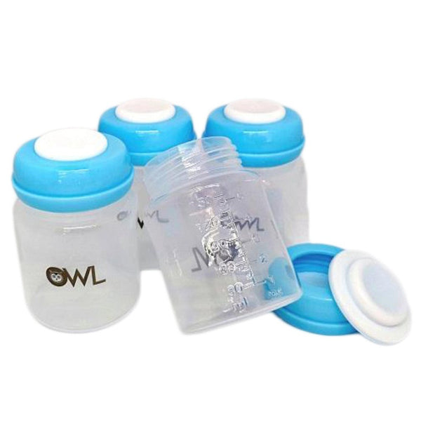 OWL Baby Breastmilk Storage Bottles (Set of 4)