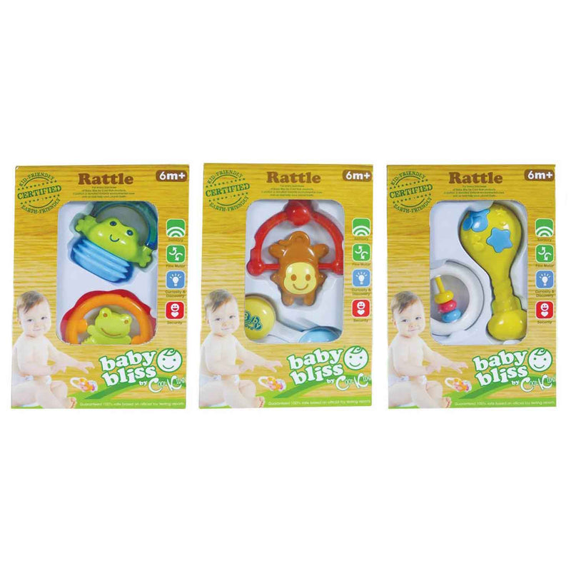 Baby Bliss Baby Rattle - 2-pc. Boxed Set