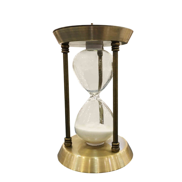 Brass Hourglass Decor (Small)