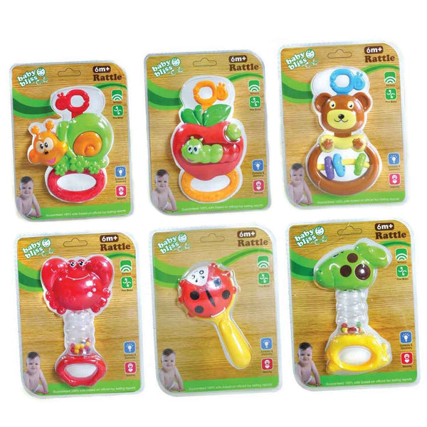 Baby Bliss Baby Rattle - Assorted