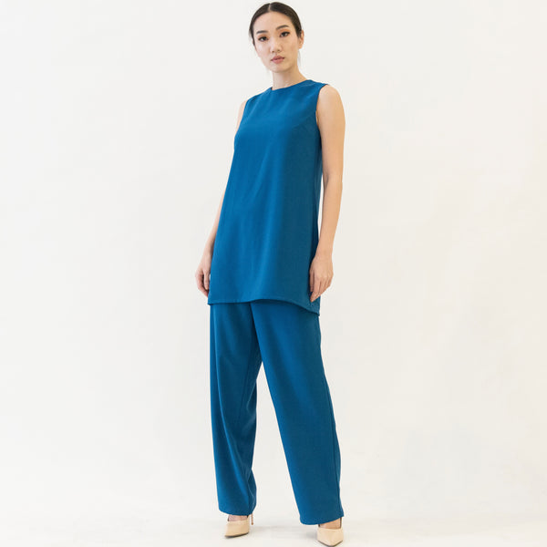 Canvas Oana Wide Leg Trousers in Teal