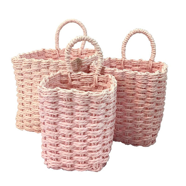 3-piece Colored Flower Basket Set